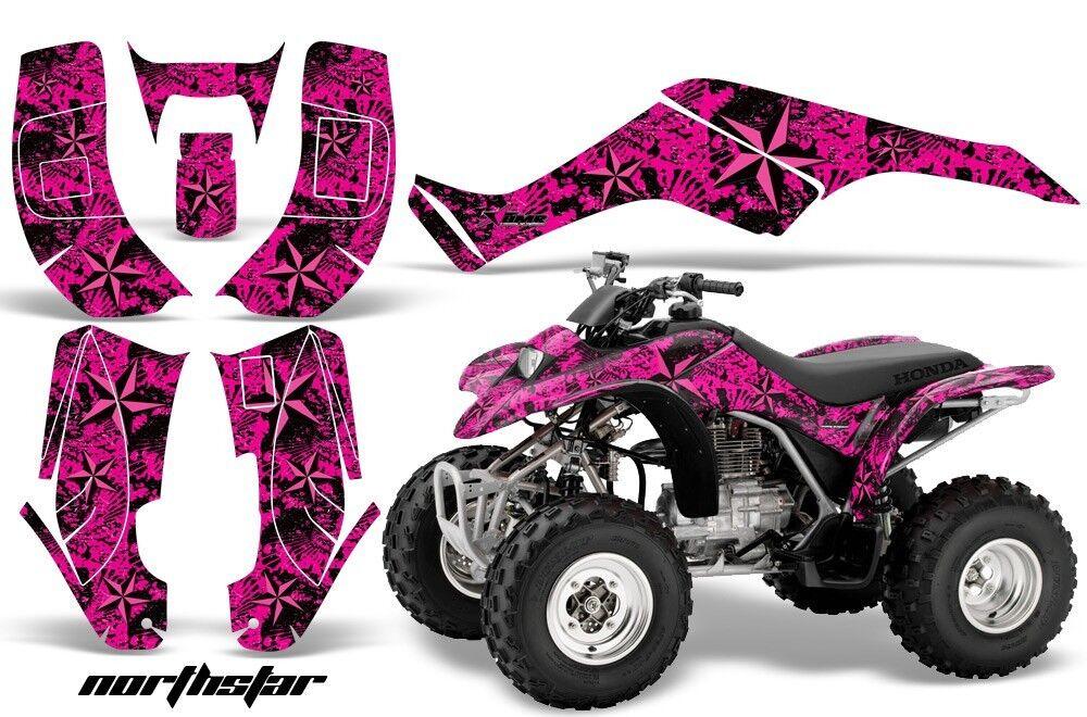 Atv Grafik Kit Kit Kit Quad Aufkleber für Honda Sportrax Trx250 2002-2005 Nstar Rosa b46217