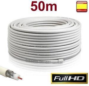 Bobina cable coaxial para antena tv 50 metros alta calidad for Cable antena tv precio