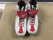 Nike Air Zoom Size 12 Football Cleats Red And White Excellent Condition -