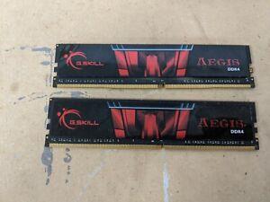 2x-G-SKILL-Aegis-8GB-DDR4-3000Mhz-CL16-Desktop-RAM-Memory-F4-3000C16S-8GISB