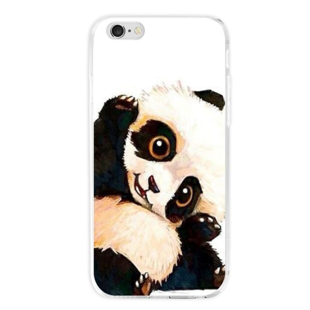 Lovely Panda Pattern Case TPU Shockproof Slim Cover Bumper for Cell Mobile Phone