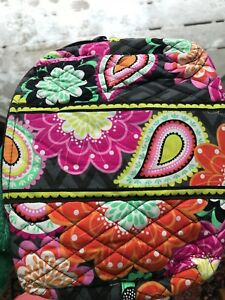 Vera Never Bradley Used Medium Bag Orange Pink And Cosmetic EQBWdCoerx