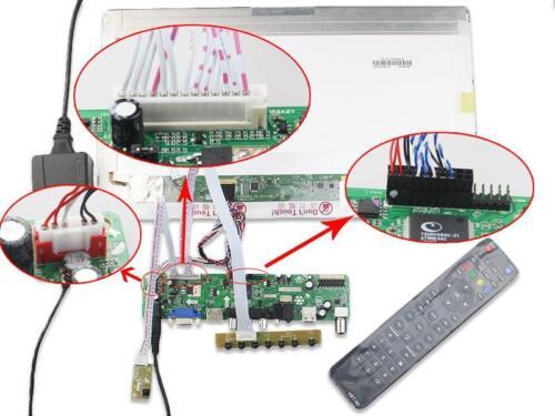 "TV HDMI VGA RF LED LCD Controller board kit for B116XW03 V2 1366X768 11.6/"" Panel"