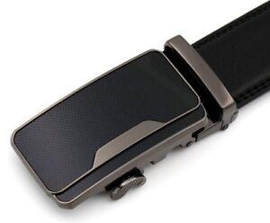 QHA Mens Casual Automatic Buckle Ratchet Leather Belt Q5051