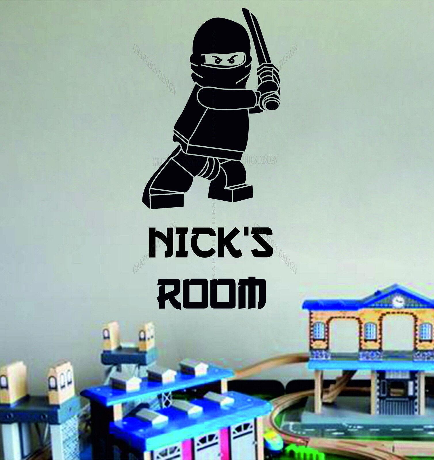 Lego Superhero Ninjago Personalised Children 39 S Bedroom Decor Vinyl Wall Sticker Ebay