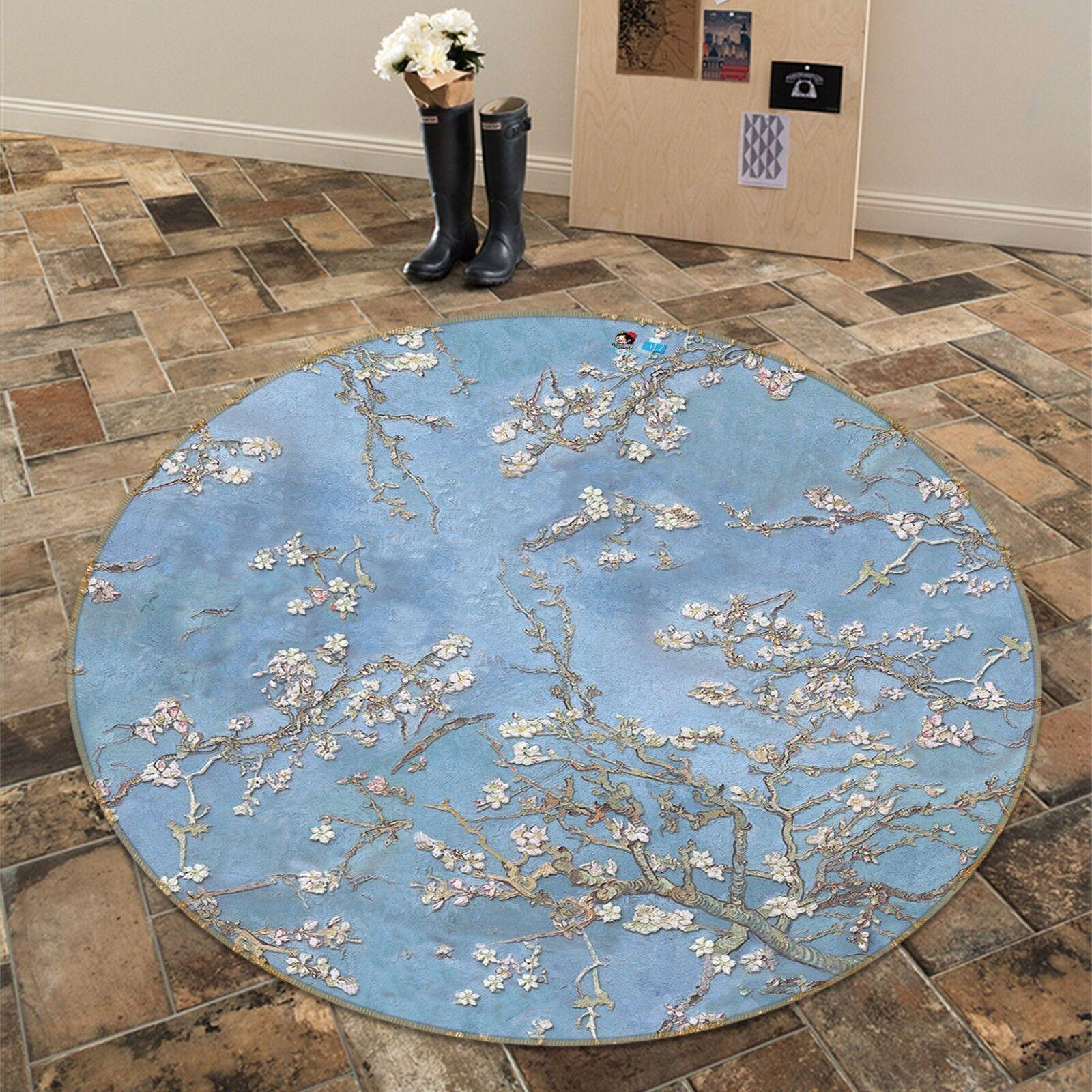 3d árbol de flor cielo 6 antideslizante alfombra maletero rondas elegante alfombra de