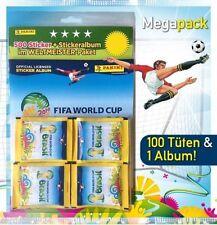 Panini WM 2014 Brasil Megapack / 100 Tüten + Leeralbum Brasilien Brazil
