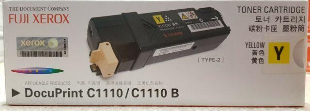 Genuine Fuji Xerox DocuPrint C1110/C1110B Yellow Toner Cartridge CT201117 New