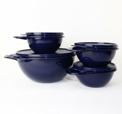 3x 600 ml bleu foncé Tupperware Maximilian Bol 2,75 L bleu foncé