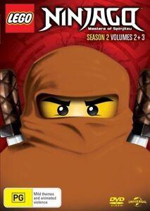 LEGO-Ninjago-Masters-of-Spinjitzu-Season-2-Volumes-2-3-DVD-NEW-Region-4-Au