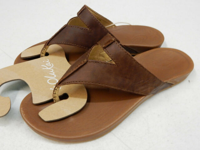 ce48660b5a07 OluKai Womens Lala Sandals 20321 Kona Coffee   Tan Size 9 for sale ...