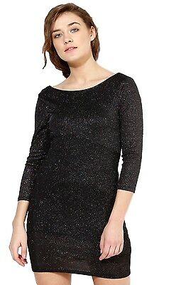 exquisite design best place uk cheap sale Ex Topshop Black Sparkly Glitter Shiny Sexy Party Mini Dress Size ...
