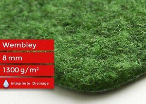 Kunstrasen-mit-Noppen-Nadelfilz-Rasenteppich-Wembley-Balkon-Garten-Gruen