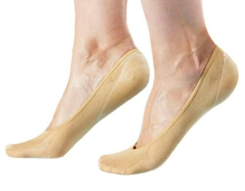 1 Paar Füßlinge mit Gelpolster Ballerinas Gel Kappen Gel Socken Gel Footsie