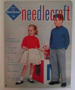 Vintage 1950s Modern Needlecraft Magazine 28 Women S Knitting