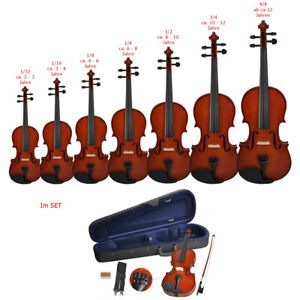 Steinbach-Geige-Violine-Set-Bogen-Koffer-Anfaengergeige-Kindergeige-Schuelergeige