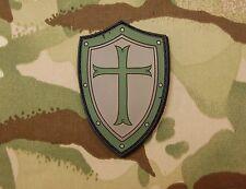 Platatac Crusader Shield Morale Patch Infidel Christian SEAL Green Beret Olive