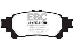 3 EBC Blackstuff Bremsbeläge Hinterachse DP1850 für Lexus IS