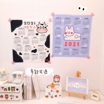 2021 Cartoon Wall Fabric Calendar Daily Schedule Planner 50X70 CM Gift for Kids