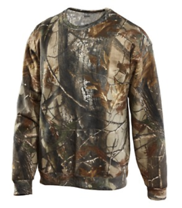 Russell Outdoors Mens Realtree AP Camo Sport Long Sleeve T Shirt Sizes S-3XL NEW