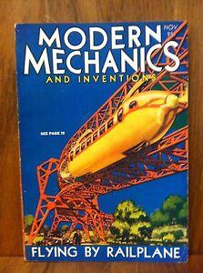 MODERN-MECHANICS-MAGAZINE-NOVEMBER-1930-FLYING-BY-RAILPLANE