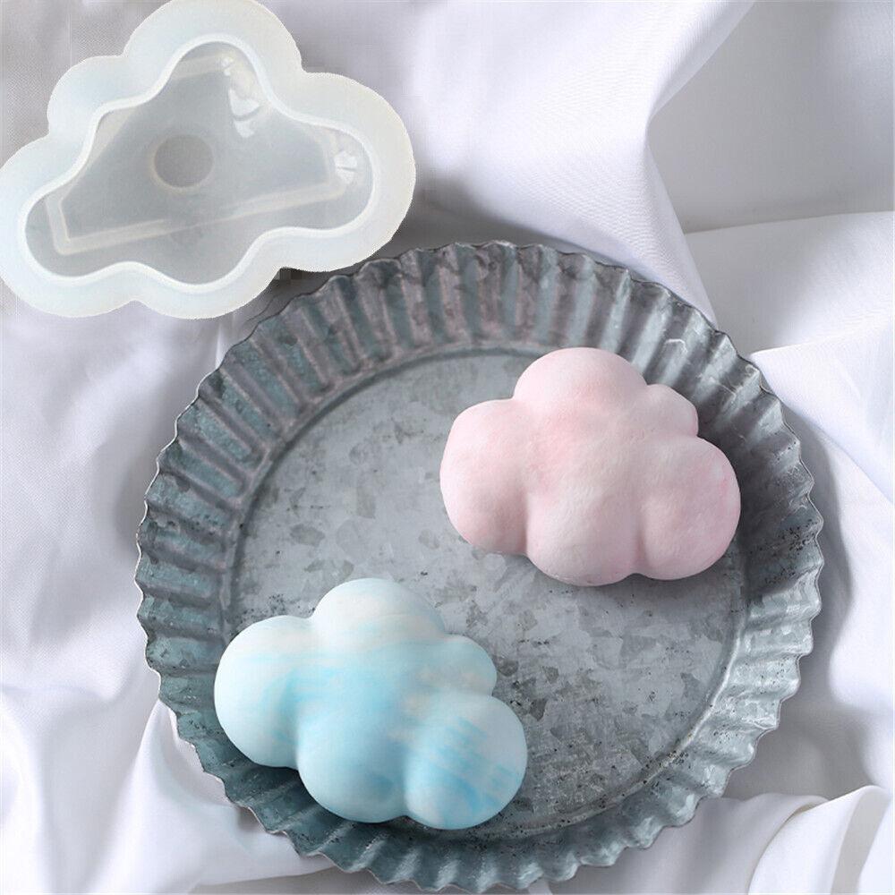 Cloud Shape Chocolate Mold Silicone Mousse Fondant Ice Cube Cake Mold Soap Tool