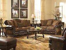 "Ashley ""Fresco Durablend"" Antique Old World Sofa Set Furniture 63100"