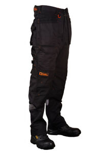 Multipocket-Heavy-Duty-Work-Trousers-Knee-Pockets-Cordura-Cargo-Pants-Durable