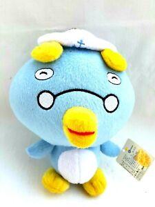 Blue-Penguin-White-Hat-Glasses-Soft-Plush-Stuffed-Animal-Bird-Toy-18CM