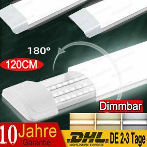 120cm LED Röhren Feuchtraumleuchte Werkstatt Garage Lampe Deckenleuchte Dimmbar