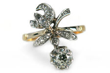 Ring antik ca.1920 mit 17 Diamanten Top Crystal 750 Gelbgold  [BRORS 12967]