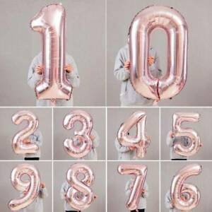 Rose-Gold-40-034-Giant-Foil-Number-Helium-Large-Balloon-Birthday-Party-Wedding-Decor