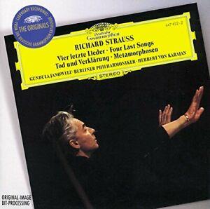 Strauss-R-4-Last-Songs-Etc-Karajan-Gor-NEW-CD