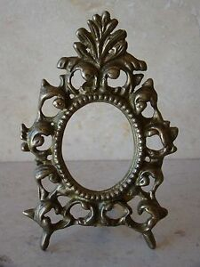 Image Is Loading Vintage Br Victorian Style Oval Ornate Photo Frame