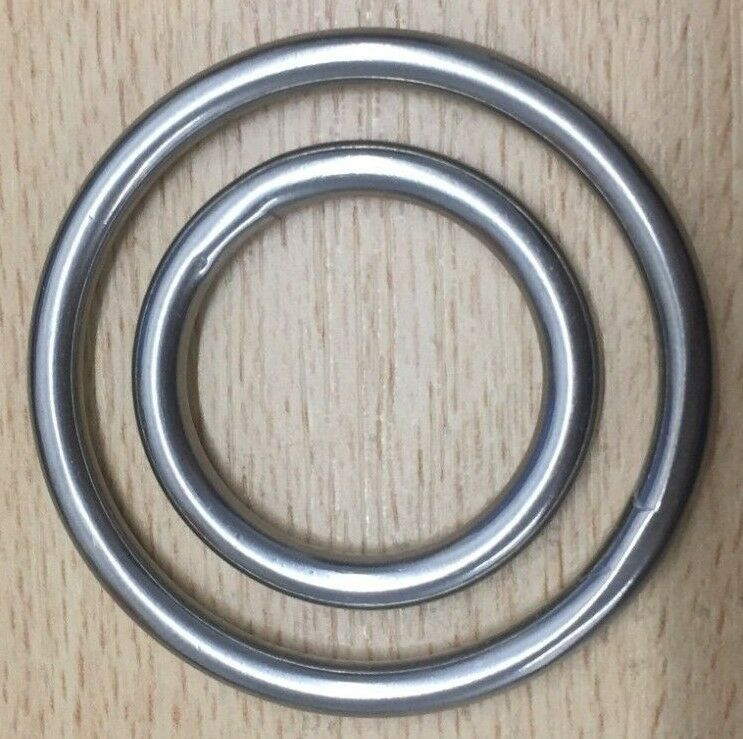 O Round and Dee D Rings Stainless Steel Polished Welded Ring Leather Craft DIY