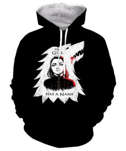 Fashion Women//Men Game Of Thrones 3D Print Hoodies Sweatshirt Pullover Tops