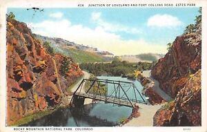 Rocky-Mtn-Nat-039-l-Park-Colorado-Bridge-At-Junction-Loveland-Fort-Collins-Road-1930