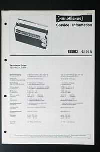 image is loading nordmende-essex-6-191-a-original-service-manual-