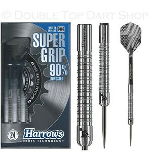 Harrows-Supergrip-90-Tungsten-Steel-Tip-Darts-Available-in-21-26-Gram
