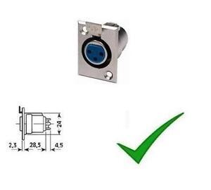 Connettore-XLR-Canon-Presa-Microfonica-Presa-microfono-3-Poli-Pannello-Presa-XLR