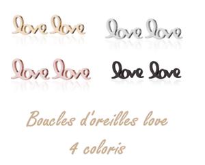 Superbes Boucles d/'oreilles Style love BijouxToutMimi ♥Ƹ̵̡Ӝ̵̨̄Ʒ♥