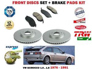 Pour-VW-SCIROCCO-MK1-53-53B-1-6-1-8-1976-1991-Nouveau-Front-Disque-de-frein-Set-Pads-Set