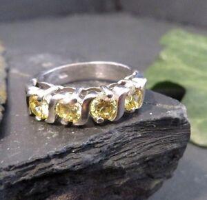 Ausgefallener-925-Silber-Ring-Funkelnd-Designer-Gelbe-Steine-Geschwungen-Modern