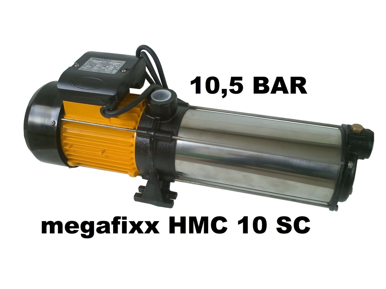 Kreiselpumpe megafixx HMC10SC mehrstufig 10 Edelstahl Laufräder 10 BAR 2200 Watt