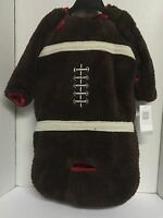 Boys Outerwear One Piece Jumpsuit Jacket Infant 0/9 Month Brown Football Design