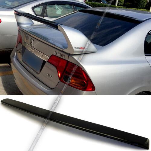 For 06-10 Civic 4DR Sedan JDM VIP Unpainted ABS Rear Roof Wing Spoiler Visor