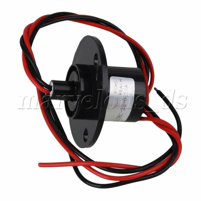 2 Wires Circuit 500Rpm 10A 240V 22mm Dia Capsule Slip Ring for Monitor Robotic