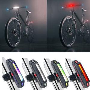 USB-ricaricabile-LED-BICICLETTA-BIKE-MTB-FRONT-Luce-Avvertimento-bicicletta-luce-SG