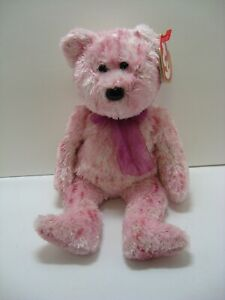 Ty Beanie Babies pink bear Smitten 2002