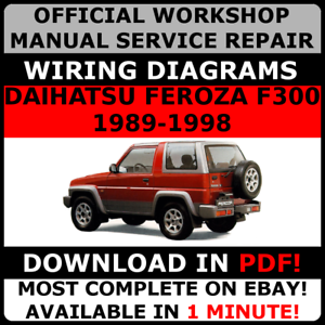 image is loading official-workshop-service-repair-manual-for-daihatsu-feroza -
